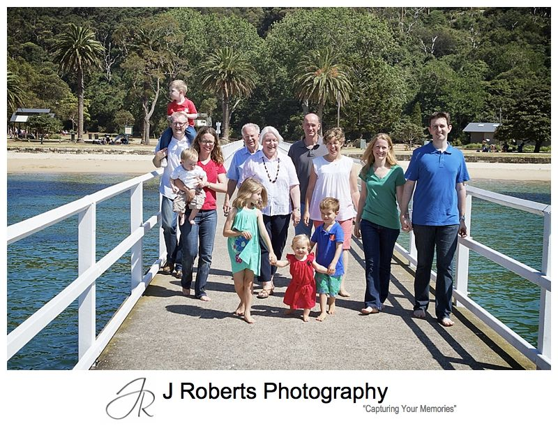 Family walking along the pier at clifton gardens mosman - sydney family portrait photography